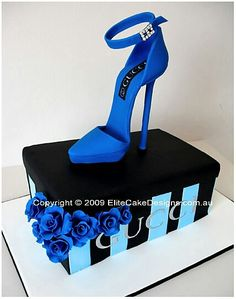 Gucci stiletto birthday cake, exclusively designed by EliteCakeDesigns Sydney. Visit our exclusive Novelty Cake design Gallery Crazy Cakes, Fancy Cakes, Pink Cakes, Girly Cakes, High Heel Cakes, Shoe Cakes, Shoe Box Cake, Pretty Cakes, Beautiful Cakes