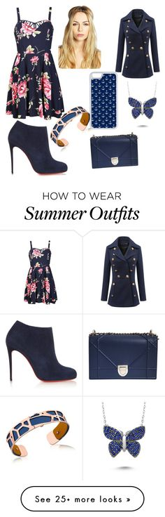 """""""Navy Blue Outfit"""" by nolan-toni on Polyvore featuring Ally Fashion, Christian Louboutin, Christian Dior, Boohoo and CellPowerCases"""