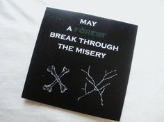 May a forest break through the misery: nature lover sticker by EasternHawkArt