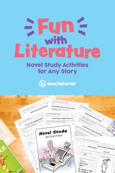 Fun With Literature: Novel Study Activities for Any Story - Teach Starter Blog Use these exciting literature resources to study a class novel with your students! From plot analysis to character studies, your students will love this novel study activity book as part of reading rotations or whole class literature study activities! Teaching Plan, Primary Teaching, Help Teaching, Teaching Reading, Teaching Resources, Learning, Imaginative Writing, Book Cover Page, Library Activities