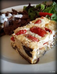 "cookvalley - tanker om mad: Aubergine cheesecake efter Ottolenghis ""Plenty More"""