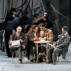 """#Puccini's #LaBoheme at the #Dresden #Semperoper.     This opera starts with the classic """"boy meets girl"""" moment and is a comedy cut short by a tragedy    © Matthias Creutziger"""