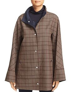 Fall Fashions, Fashion Pics, Plaid Jacket, Lafayette 148, Autumn Fashion, Raincoat, Coats, Jackets, Shopping