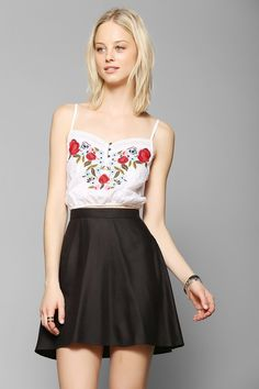 Kimchi Blue Cantina Embroidered Cropped Cami from Urban Outfitters