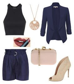 """""""Untitled #533"""" by sara-scagnoli on Polyvore featuring interior, interiors, interior design, home, home decor, interior decorating, Topshop, LE3NO, French Connection and Gianvito Rossi"""