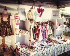 www.robintail.com.au  Gorgeous frocks & great stall idea