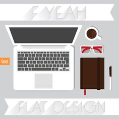 F yeah flat design... It's taking over! // Click thru to @Veerle Van Mol's curated gallery of our flattest and coolest design elements. #Illustration #Flat #graphicdesign