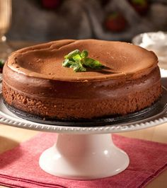 New York Style Chocolate Cheesecake   Read more at: http://www.foodnetwork.com/recipes/emeril-lagasse/new-york-style-chocolate-cheesecake-recipe.print.html?oc=linkback