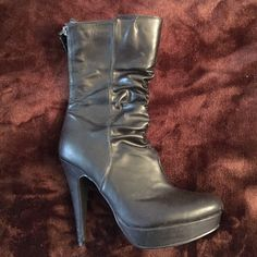 "G by Guess size 8 boots Wore 2x and are in great condition. Boot zippers up the back. 4in heel with 1"" platform G by Guess Shoes Ankle Boots & Booties"