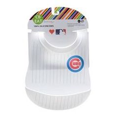 Chewbeads MLB Baby Gameday Bib with Crumb Catcher - Chicago Cubs