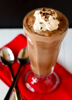 Frozen Hot Chocolate is one of our favorite holiday recipes - SO glad I found this. Especially after having it at Serendipity 3 in Las Vegas!