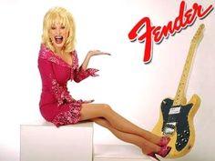 DOLLY PARTON for Fender guitars