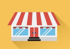 Store Building Free Flat Vector