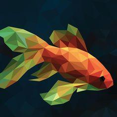 Design 3d Zeichenstift, Art Mignon, Polygon Art, Cubism Art, Geometric Drawing, Ouvrages D'art, Geometry Art, Shape Art, Fish Art