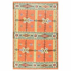 Lovely Vintage Scandinavian Swedish Kilim | From a unique collection of antique and modern russian and scandinavian rugs at https://www.1stdibs.com/furniture/rugs-carpets/russian-scandinavian-rugs/