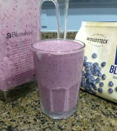 Blueberry Kefir Smoothie.  The first thing my children ask for every morning!   It is loaded with valuable vitamins and minerals and contains easily digestible complete proteins.    For the lactose intolerant, kefir's abundance of beneficial yeast and bacteria provide lactase, an enzyme which consumes most of the lactose left after the culturing process.