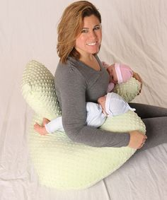 This Twin Z Pillow Light Green Twin Z Nursing Pillow by Twin Z Pillow is perfect! #zulilyfinds
