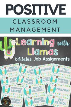 Classroom jobs are a PERFECT way to teach students responsibility while building a positive classroom environment.  Click the link below to check out this EDITABLE llama themed classroom management tool and get ready for your ticket to teacher heaven as you head back to school!