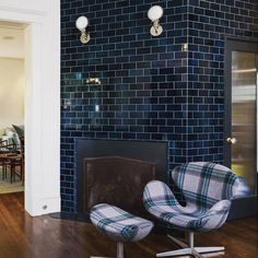 The natural variation in our Subway Tile glazes creates a dramatic visual depth. Thanks to our good friends at for this beautiful install shot! Interior And Exterior, Interior Design, Welcome To My House, Property Design, Upstairs Bathrooms, Bathroom Interior, Bathroom Ideas, Home Goods, New Homes
