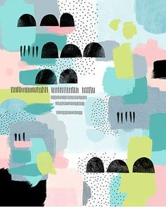 Image of Tommy Abstract Giclee Art Print Surface Pattern Design, Pattern Art, Abstract Pattern, Abstract Art, Colour Pattern, Abstract Shapes, Illustration Inspiration, Pattern Illustration, Motifs Textiles