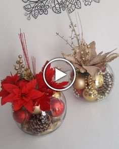 In this DIY tutorial, we will show you how to make Christmas decorations for your home. The video consists of 23 Christmas craft ideas. Noel Christmas, Christmas Balls, Simple Christmas, Christmas Wreaths, Christmas Ornaments, Easy Christmas Decorations, Christmas Arrangements, Christmas Centerpieces, Christmas Crafts
