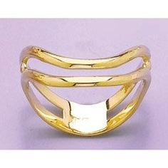Amazon.com: Gold Nautical Ring Ring Double Wave Fashion Thumb Ring [size 9]: Million Charms: Jewelry