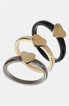 #Topshop 'Trellis' Assorted Rings #Nordstrom