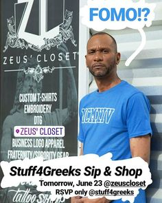 RSVP  In Bio! Don't miss out on  this FREE event TOMORROW! Shop excusive gear or we can make you something unique! MERCH giveaways and Free Food! #agp2018 #agp #atlantagreekpicnic #atlantagreekpicnic2018 #stuff4greeks #s4g #greekgear #greekparty #divine9 #freeevent #free #customgear #exclusive#sipandshop #merch #embroidery #dtg #atl #atlanta #giveaways #lit @zeuscloset @atlgreekpicnic1 #phibetasigma