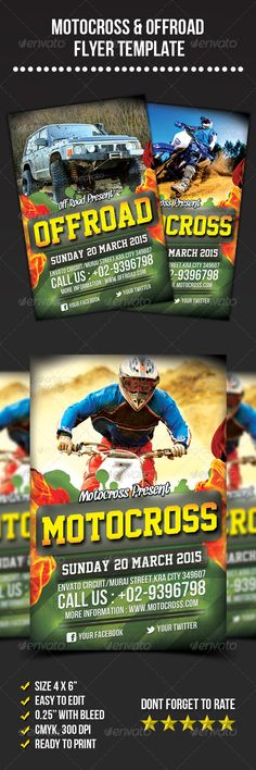 A4 Mountain Bike Outdoor Event FlyerFonts With everything and