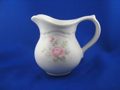 Pfaltzgraff Tea Rose Creamer Stoneware Pink by TheMichiganAttic