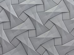 Concrete origami tile design by Ilan Garibi for KAZA Concrete – Fubiz™
