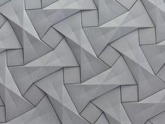 Concrete origami tile design by Ilan Garibi for KAZA Concrete – Fubiz™