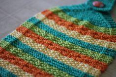 Hot Stripes Hanging Dish Towel and Diagonal Stripes Dishcloth Knitting Patterns