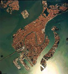 Aerial photo of Venice, Italy