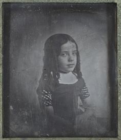 Eduard Isaac Asser, Portrait of Charlotte Asser, the photographer's daughter, c. 1842. Daguerreotype, 81 x 70 mm. Amsterdam, Rijksmuseum, inv. no. RP-F-AB12282. Long time considered the oldest known Dutch photograph.
