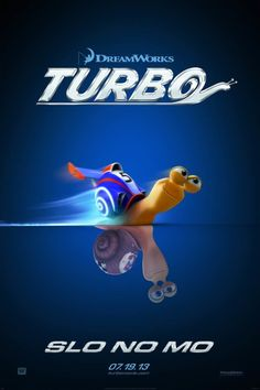 Dreamworks Turbo movie poster: Turbo the snail longs to race in the Indy 500.