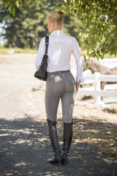 FITS PerforMAX Full Seat Pull On Breeches| Stone with Stone Leather