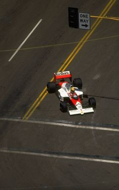 Ayrton Senna in a McLaren MP4-5, US Grand Prix, Phoenix, 1989