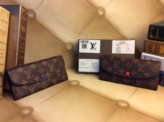 Louis vuitton monogram Emilie wallet  Eight card slots, three flat pockets, three gusseted compartments and one middle zip compartment  7.5 x 3.9 inches  Includes dust bag and care card   | Shop this product here: spree.to/aheh | Shop all of our products at http://spreesy.com/Diva_styles    | Pinterest selling powered by Spreesy.com