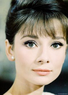 Audrey Hepburn, c. 1964. Makeup so beautiful