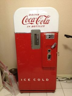 Pro Restored 1940's 50's Coca Cola Vendo 39 Bottle Vending Machine Soda Vintage | eBay