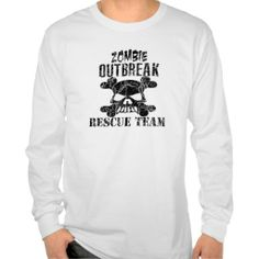 Zombie Outbreak Rescue Team Long Sleeve Shirt