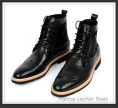 Free shipping new 2014 hightop men high top leather boots autumn and winter leather boots men short boots size 38-45 $468.75