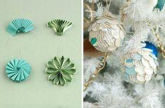 manualidades navidad, ornamentos de papel, adornos con reciclaje