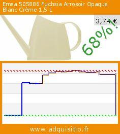 Emsa 505886 Fuchsia Arrosoir Opaque Blanc Crème 1,5 L (Jardin). Réduction de 68%! Prix actuel 3,74 €, l'ancien prix était de 11,77 €. http://www.adquisitio.fr/emsa/505886-fuchsia-arrosoir