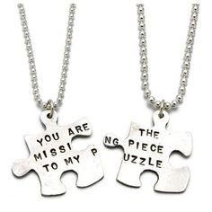 You Are The Missing Piece To My Puzzle Necklace ❤ liked on Polyvore featuring jewelry, necklaces, choker necklace, choker jewelry and short necklaces