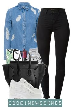 """""""8:18:15"""" by codeineweeknds ❤ liked on Polyvore featuring House of Holland, J Brand, Forever 21, NARS Cosmetics, Rolex and NIKE"""