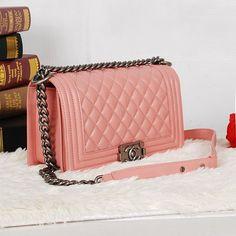 Replica Chanel 1:1 Quality Pink Original genuine leather Pink Famous Brand Handbags