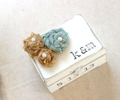 Burlap Wedding Ring Box Personalized Rustic by CrystalCoveDS