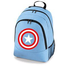 CAPTAIN AMERICA AVENGERS MARVEL SUPERHERO - BACKPACK SCHOOL COLLEGE SPORT BAG